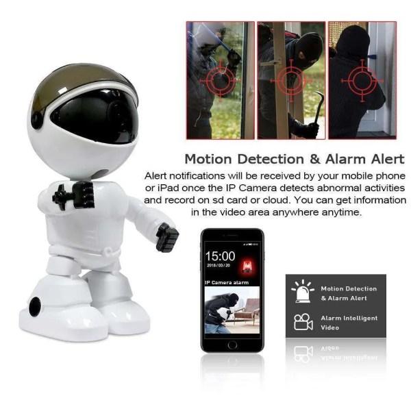 Hiseeu 2MP HD Wireless IP Wifi 1080P Robot Camera 2