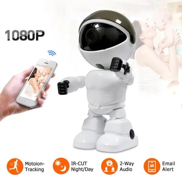 Wireless IP Wifi 1080P Robot Camera
