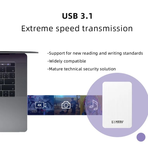 "High Quality KESU HDD 2.5"" External Hard Drive 5"