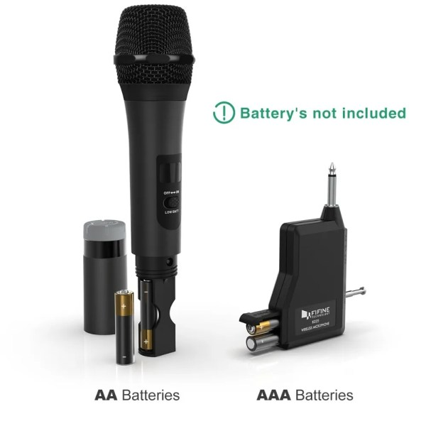 FIFINE UHF Wireless Handheld Dynamic Microphone and Receiver 3