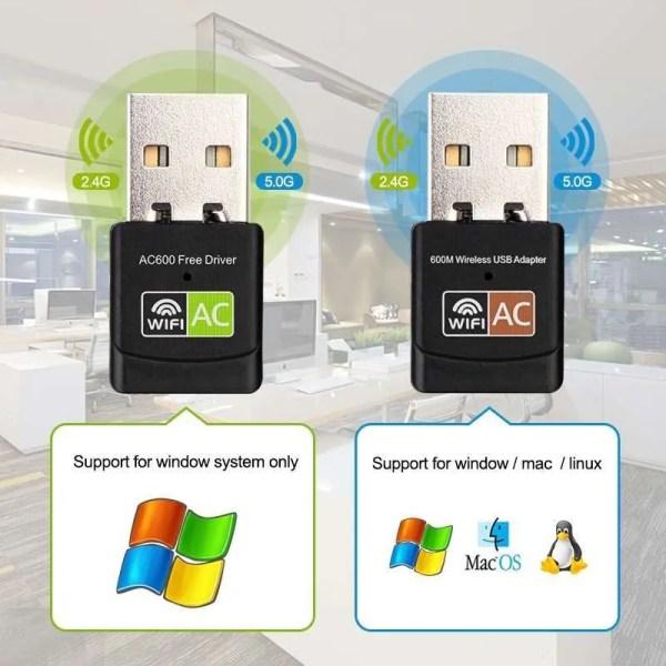 USB WiFi Adapter USB Ethernet WiFi Dongle 5