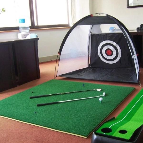 Indoor Outdoor Foldable Golf Practice Net Golf Hitting Cage Garden Grassland Practice Tent 1m /2m Golf Training Aids