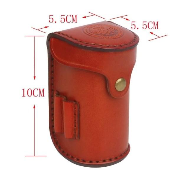 Tourbon Vintage Mini Portable Golf Ball Bag Tee Holder Holds 2 Balls Divot Tool Holder Vegetable Leather Waist Golf Pouch