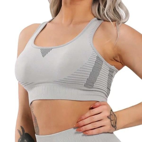 Women Push Up Seamless Sports Bra Workout Yoga Tops Crop Fitness Running Active Wear Vital Gym Sportswear Sexy Shockproof Vest