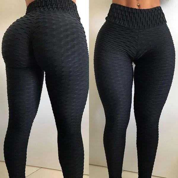 Sexy Leggings Sport Women Fitness Yoga Pants Plus Size Black leggins Jacquard Running Tights Gym Scrunch Anti Cellulite Leggings