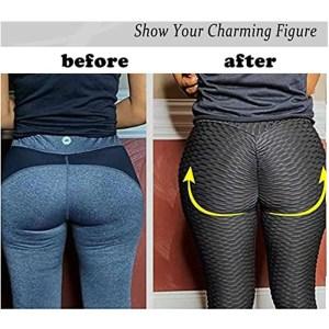 Women Black Jacquard Gym Leggings