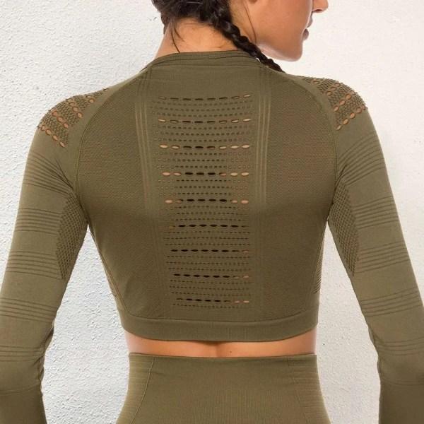 Womens Spandex Long Sleeve Sport Top 5