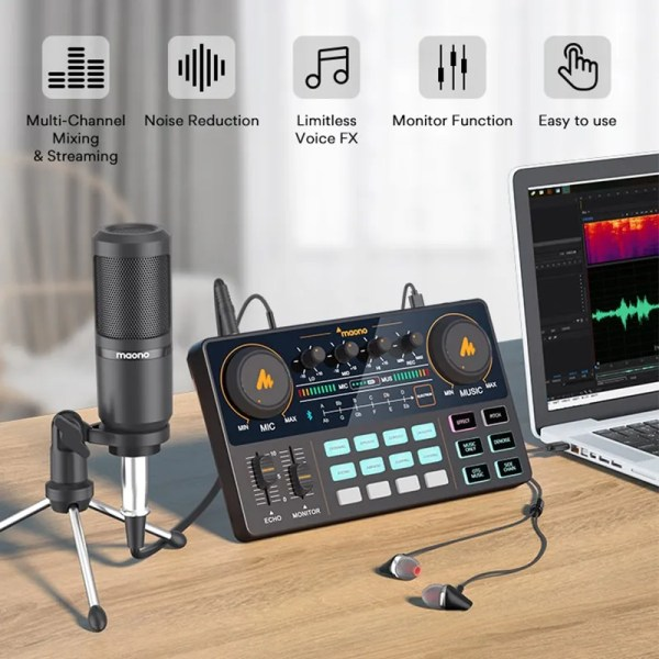 Podcasting Set with Audio Interface and Condenser Microphone 2