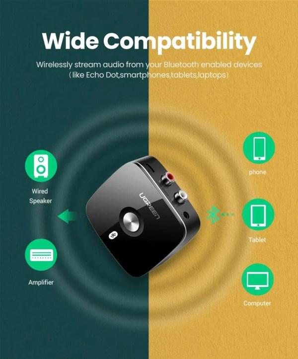 Bluetooth RCA Receiver 5.0 aptX 3.5mm Jack Aux Wireless Adapter 7