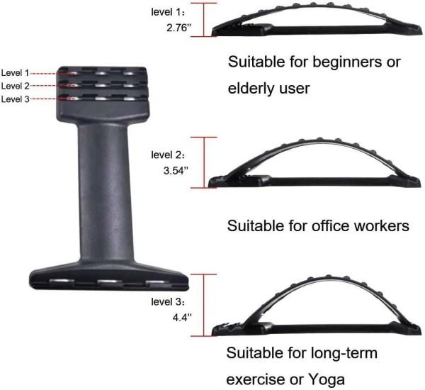Adjustable Lumbar Traction Back Stretcher 5