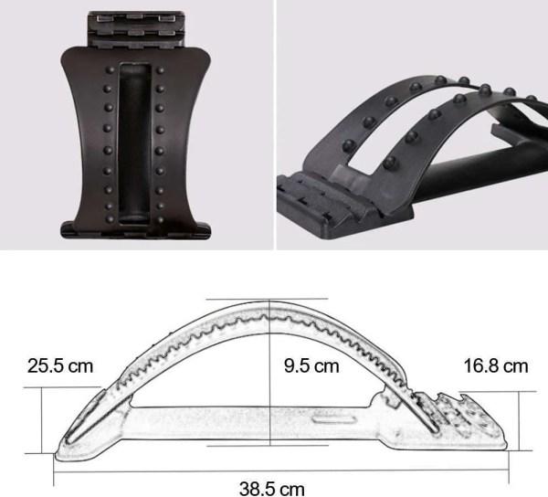 Adjustable Lumbar Traction Back Stretcher 4
