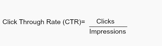 adwords interview questions - ctr calculation