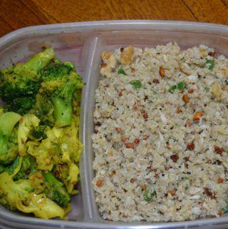Quinoa Coconut 'Rice' (Healthier version, lunch box ready in 9 min)