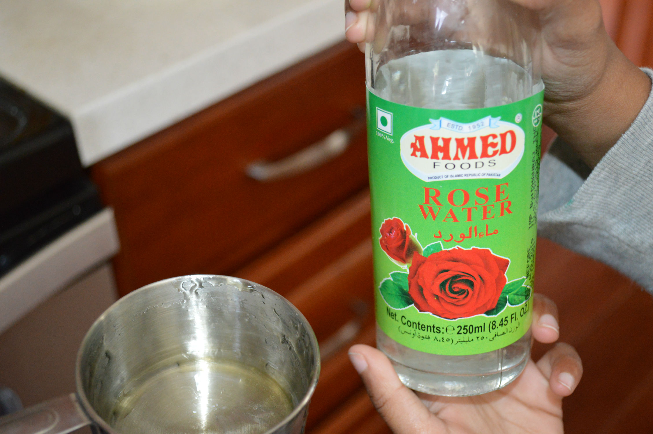 Rose water in Gulab Jamun