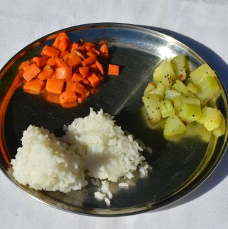 White rice South Indian meal