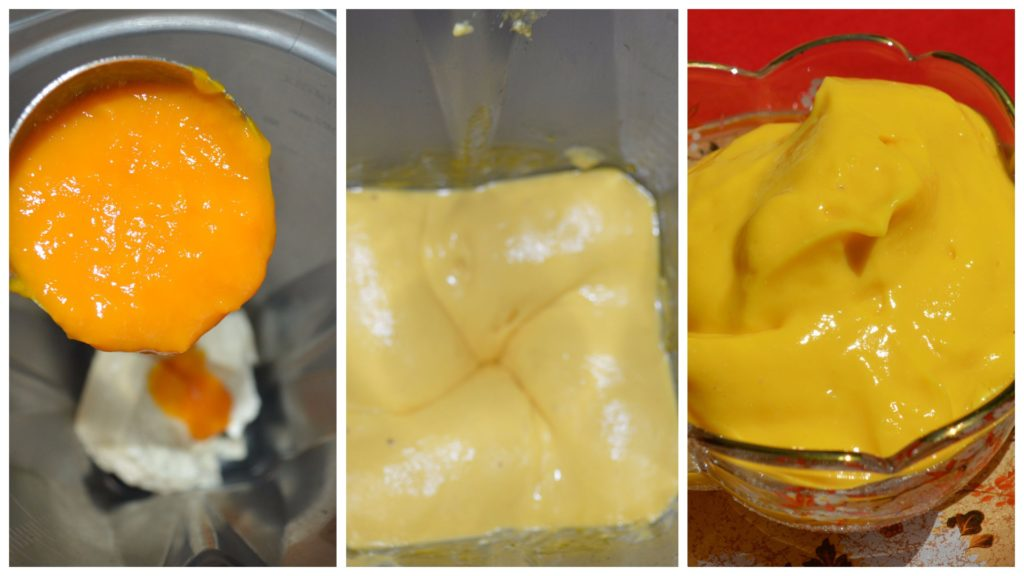 Mango vegan pudding