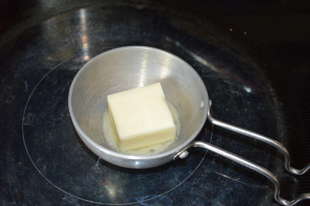 Melt butter in pan