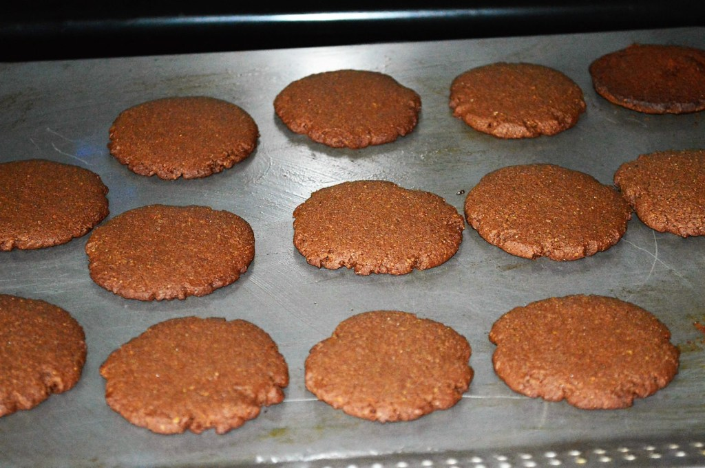 Oven baked chocolate oreos