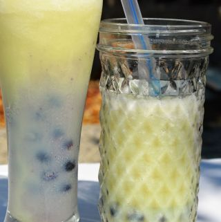 Honey dew boba bubble tea, diy, how to make