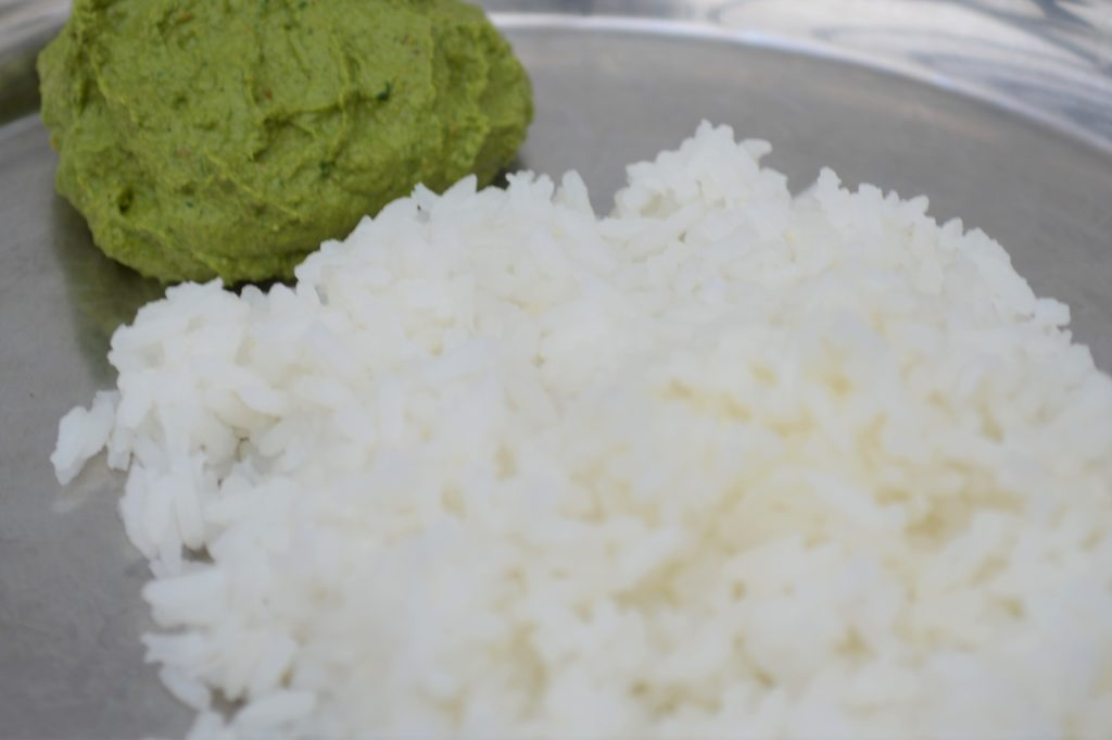 Rice with thogayal