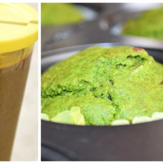 Spinach (smoothie, muffin & popsicle) – 1 recipe, 3 dishes