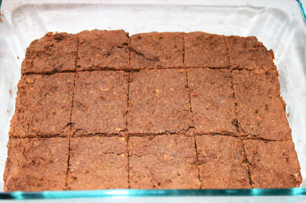 healthy brownie pieces