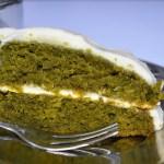 Vegan kale cake with no sugar icing