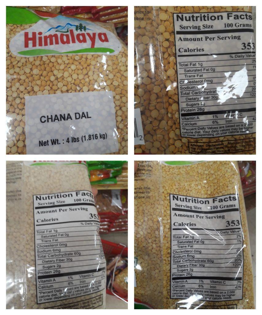 Himalaya Brand lentil nutrition