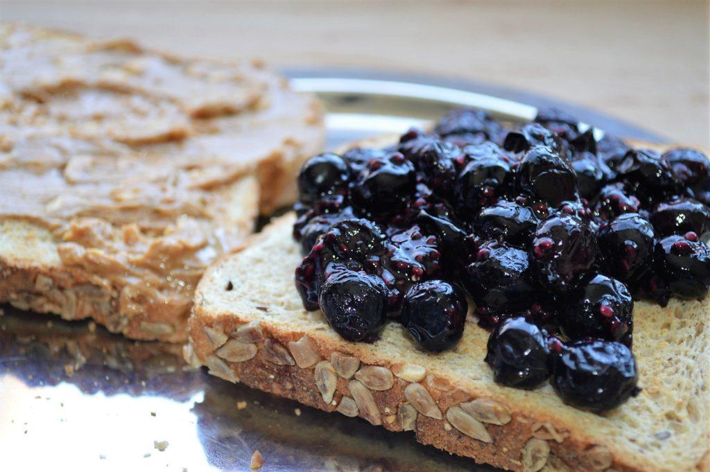 Peanut Butter and Health Jam Sandwich