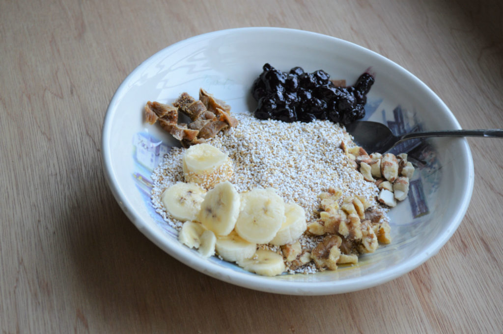 Cereal with healthy Jam