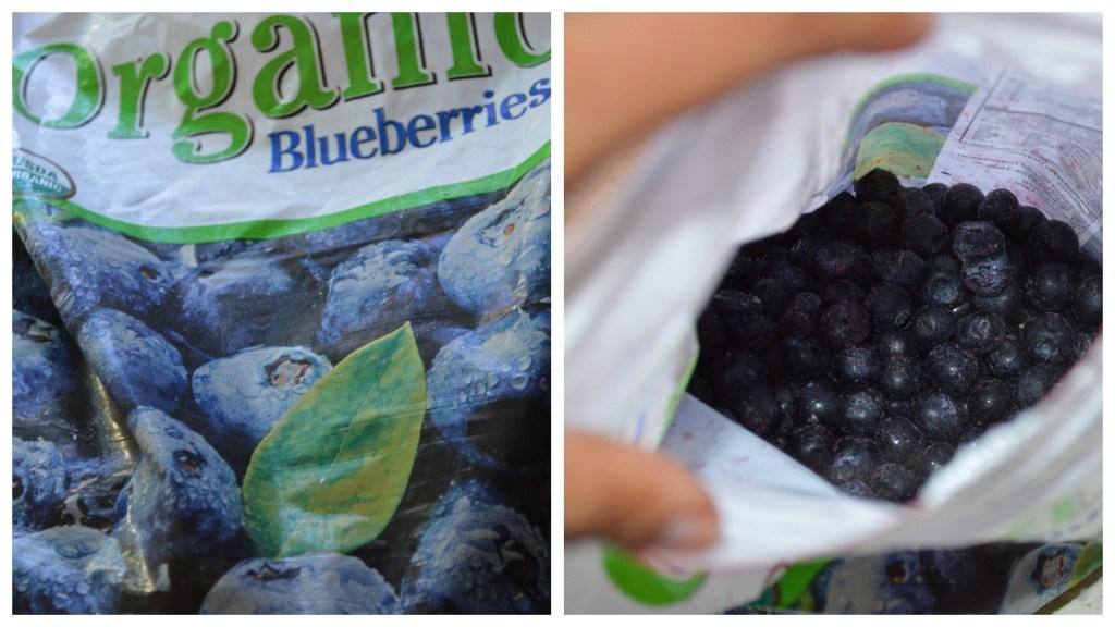 Frozen blueberries for healthy jam
