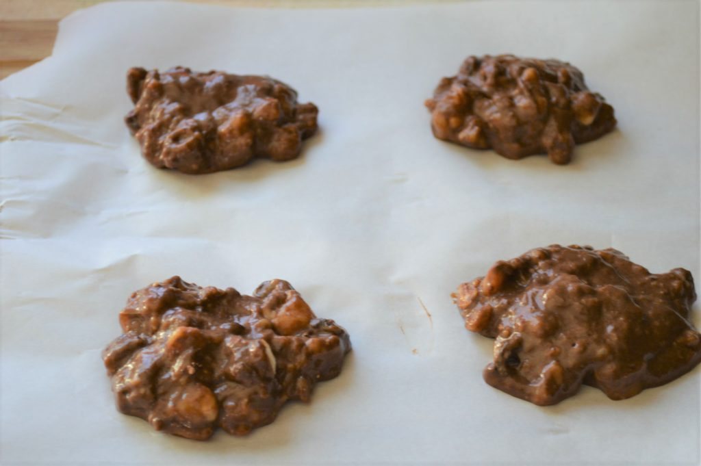 Mushy banana chocolate cookie batter