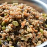 Mushroom Buckwheat Peas pulao