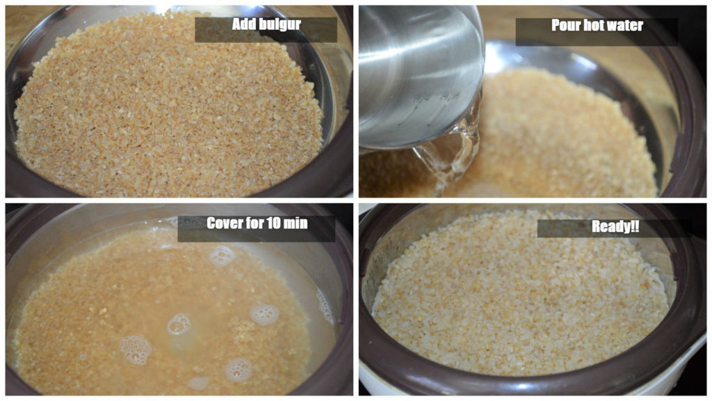 Cooking bulgur#2 steps