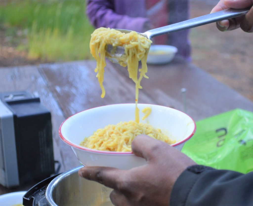 Maggi noodles for camping