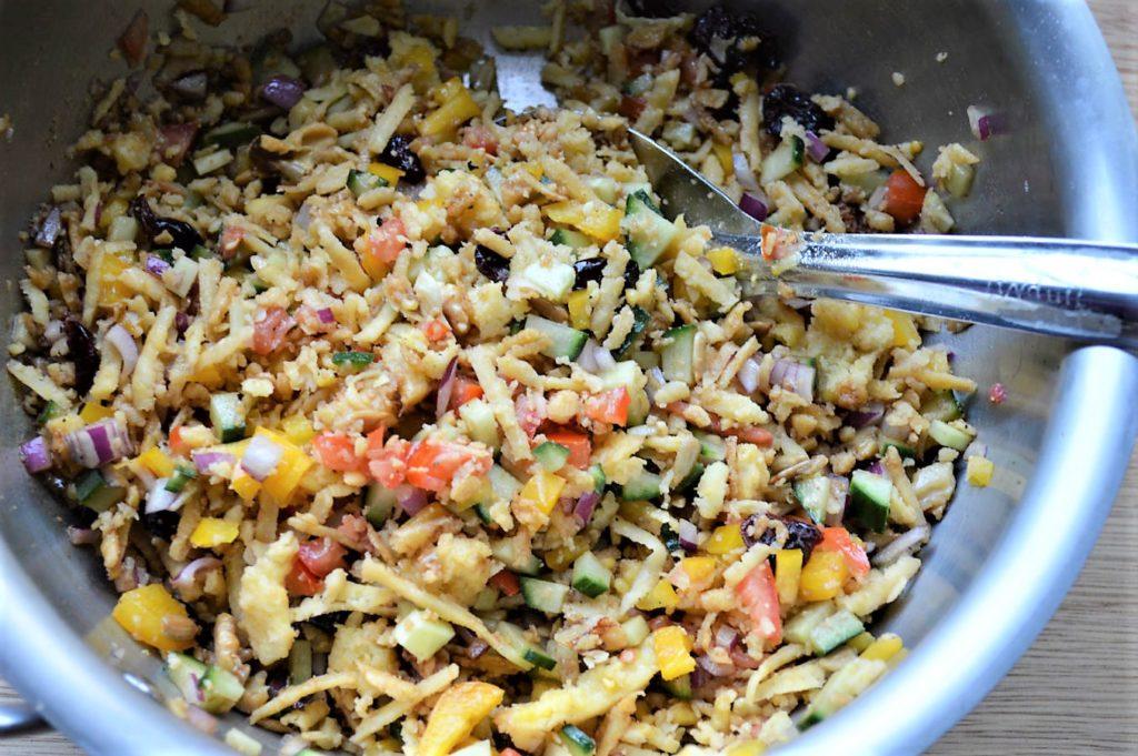 Mung lentil vegan salad recipe
