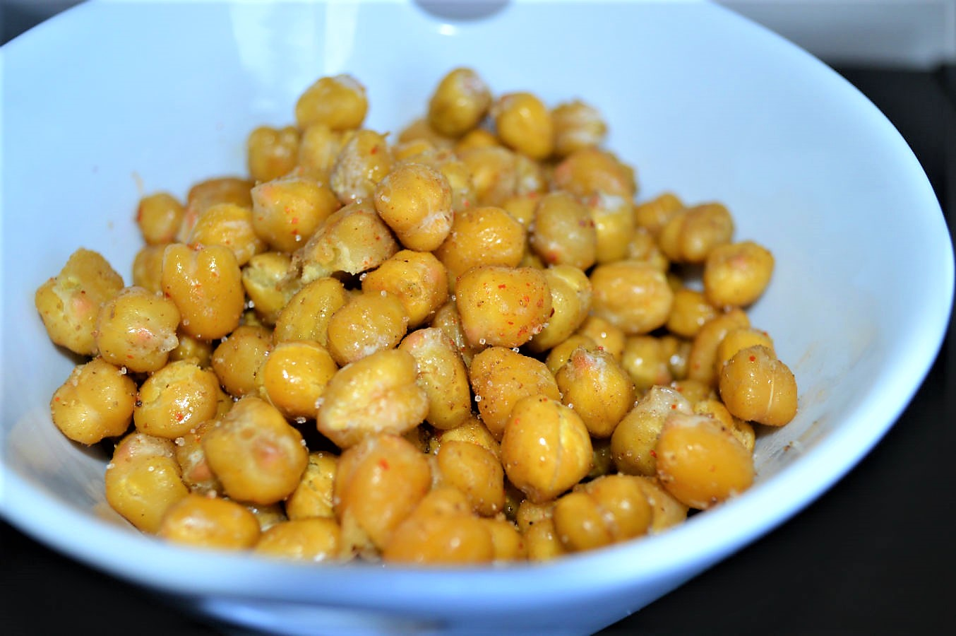 Indian spiced roasted baked chickpeas masala