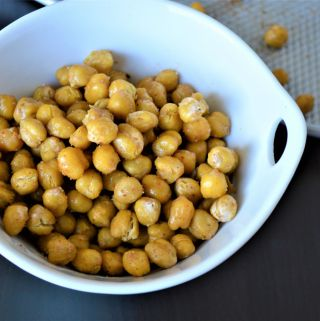 indian spice roasted chickpeas garbanzo beans