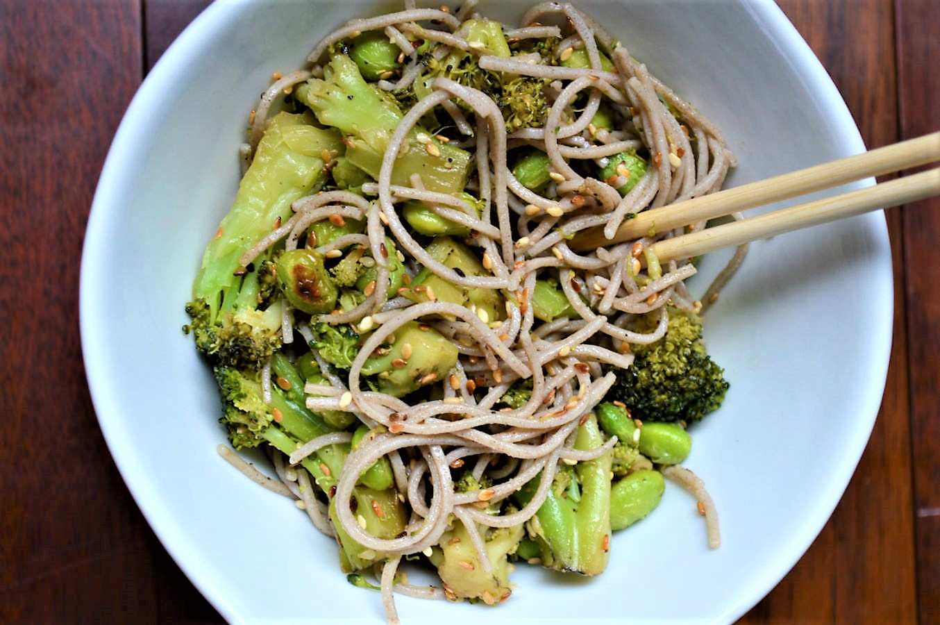 Vegan Soba noodle bowl recipe
