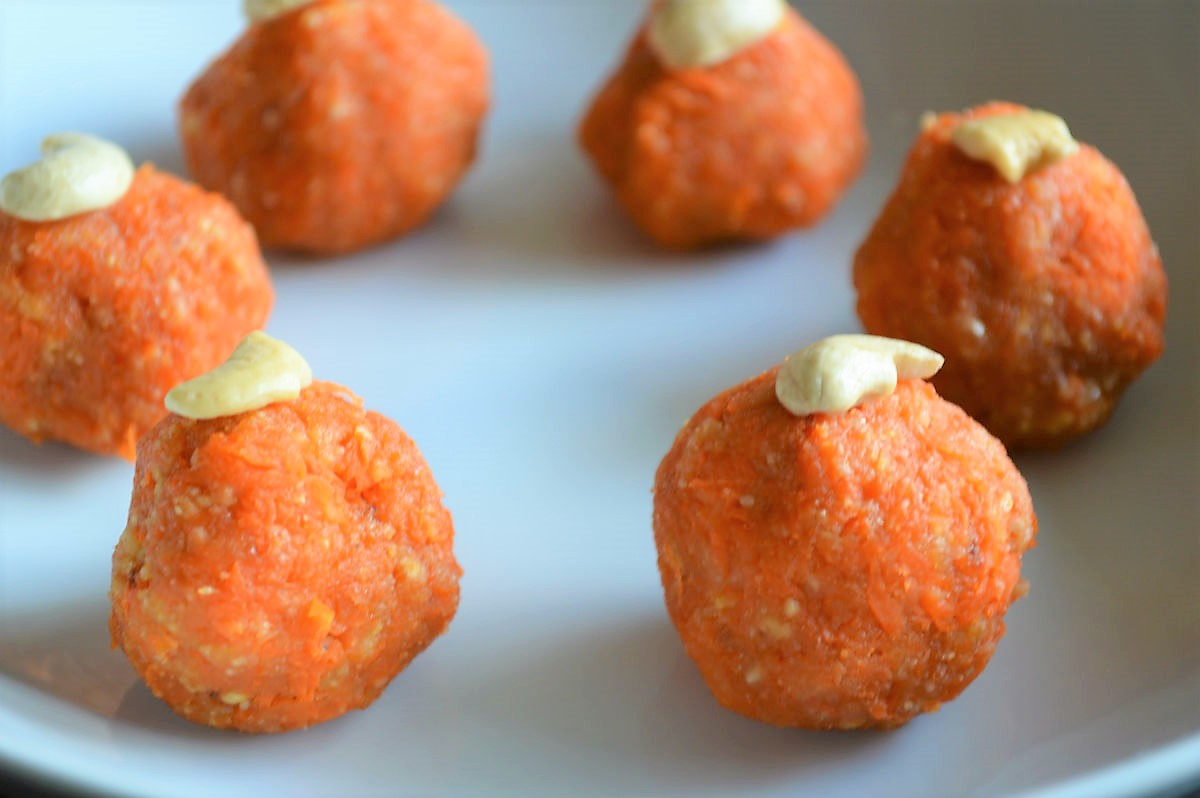 Easy Healthy Cashew Carrot Balls