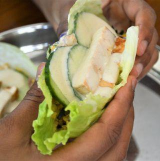 Chana Dal Lettuce vegan wraps