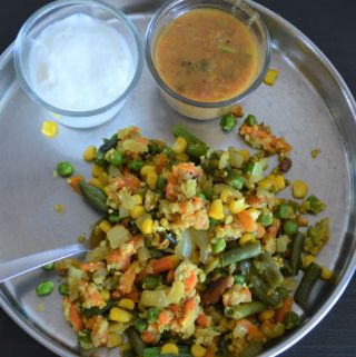 Healthy Vegetable upma recipe