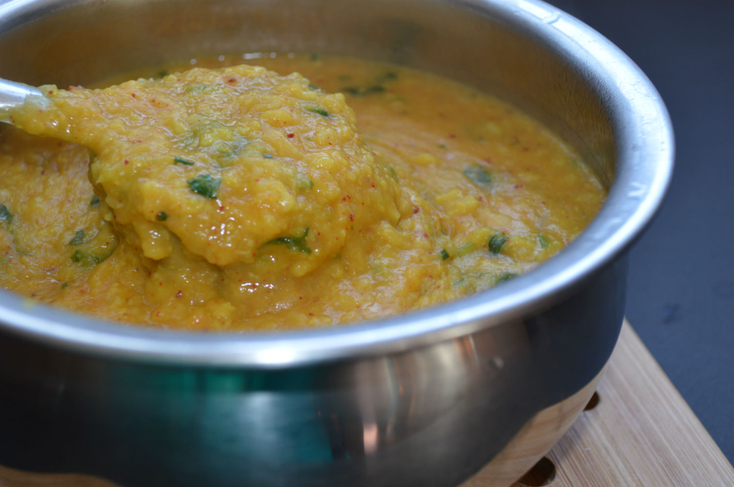 sweet and sour granny smith apple dal
