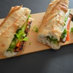 Banh Mi Vegetarian healthy sandwich