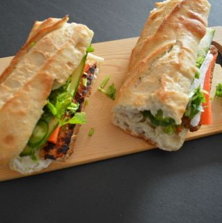 Banh Mi Vegetarian healthy sandwich