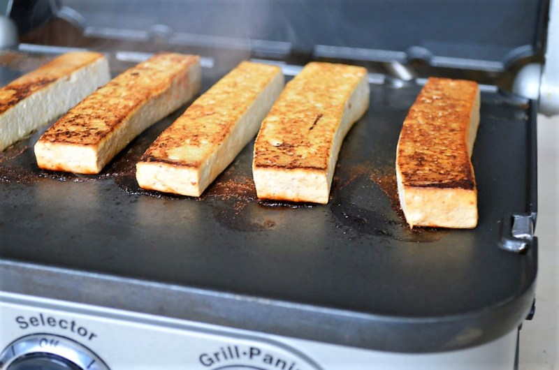 How to Make Baked Tofu easily with a Panini Press