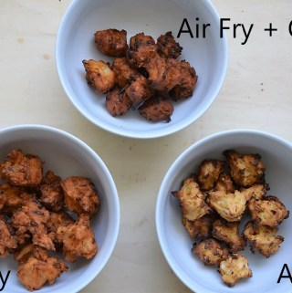 Pakoda made 3 ways fry air