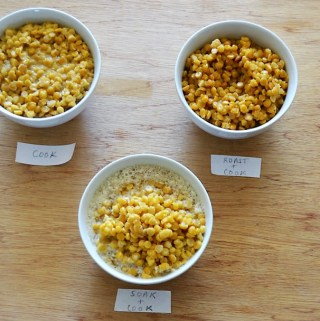 compare cooked vs soaked vs roasted chana dal