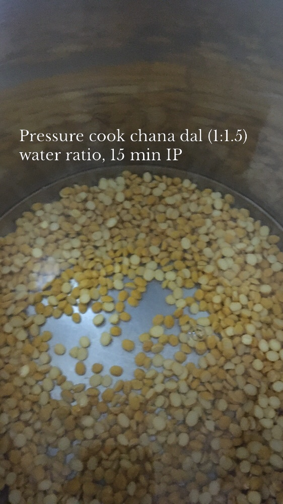 Pressure cook chana dal