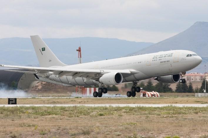 Een A330 tanker van de Saoedische luchtmacht © Paul Mali